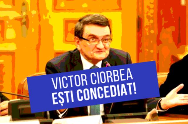 """Echipa """"de-clic"""" înregistrează marți semnăturile pentru concedierea lui Victor Ciorbea"""
