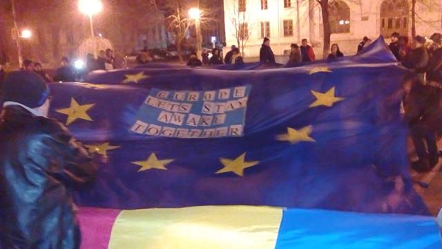 """Protestatarii gălățeni din mișcarea #Rezist au lansat """"Proclamația de la Galați – România 2017"""""""
