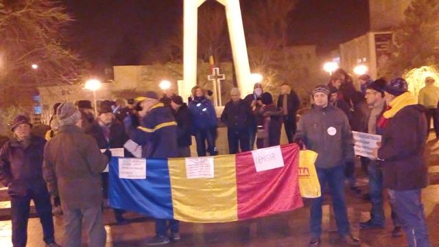 """PSD Galați ignoră de frică vocea străzii și după a 20-a zi de proteste anti """"ciuma roșie"""""""