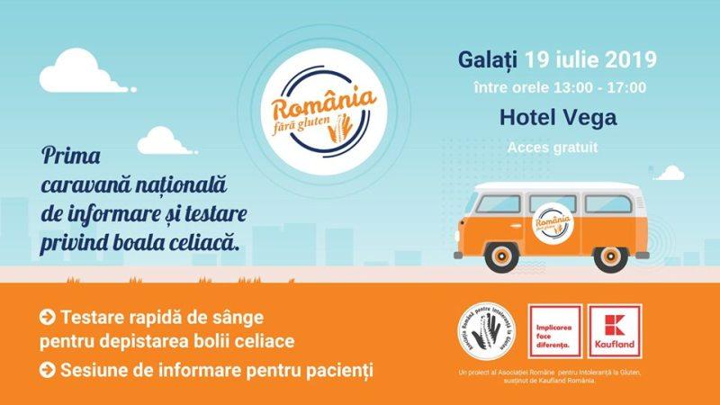 Prima caravană de informare și testare gratuită pentru boala celiacă – la Galați