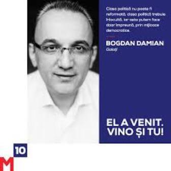 Impotentul politic de M10 Bogdan Damian vrea să confiște mișcarea civică #Rezist Galați