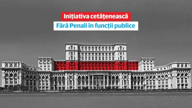 Fără Penali în funcții publice - începe strângerea de semnături