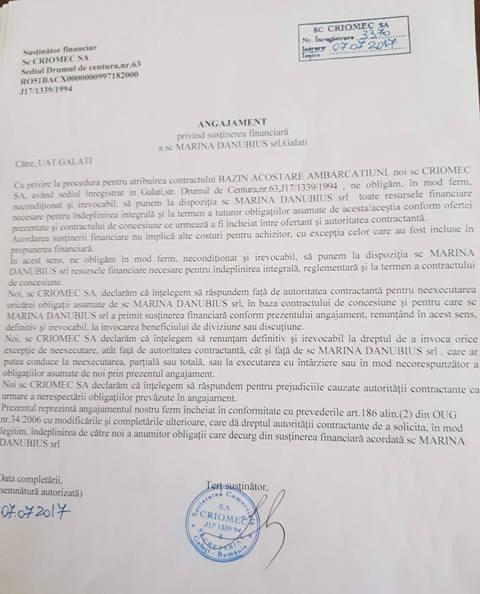 Primăria a acordat portul de ambarcațiuni prin încredințare directă unei firme fantomă garantată de Criomec SA