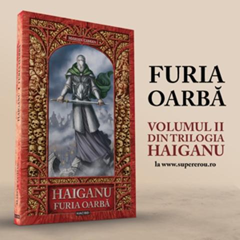 """Marian Coman își lansează romanul """"Haiganu. Furia Oarbă"""" la Librăria Humanitas"""