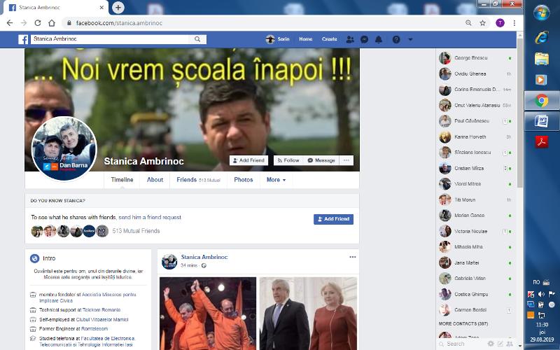 Maimuțoiul politico-civic Stănică Ambrinoc parazitează activitatea elevilor gălățeni
