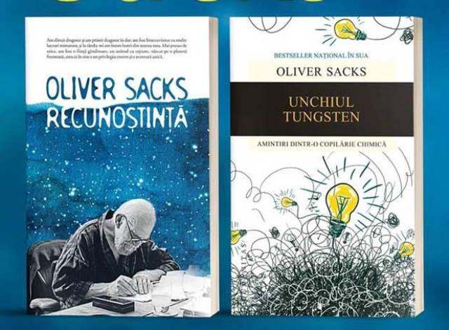 """""""Recunoștință"""" și """"Unchiul Tungsten"""" de Oliver Sacks – dublă lansare la Humanitas Galați"""