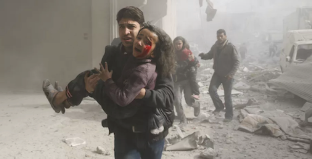 Avioanele rusești ucid copii în Siria - în vreme ce lumea întreagă se pregătește să elogieze Rusia la Cupa Mondială