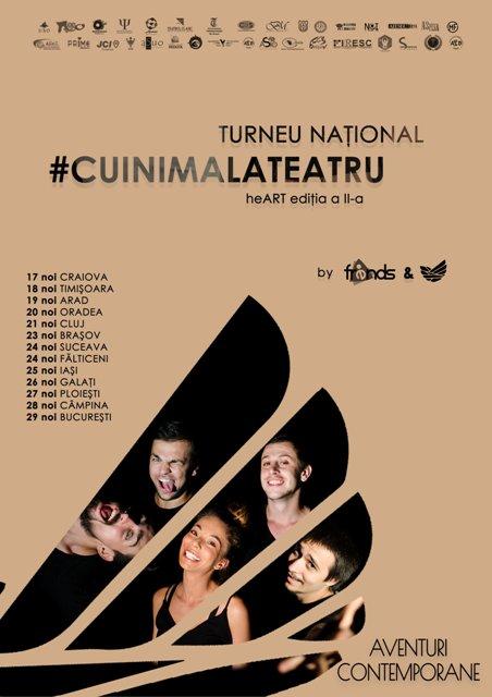 """Turneul Național """"Cu inima la teatru""""– heART vine în Galați"""