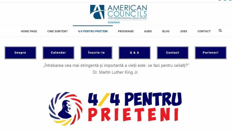 Proiectul de voluntariat 4/4PentruPrieteni – susținut de ambasada SUA și de American Councils