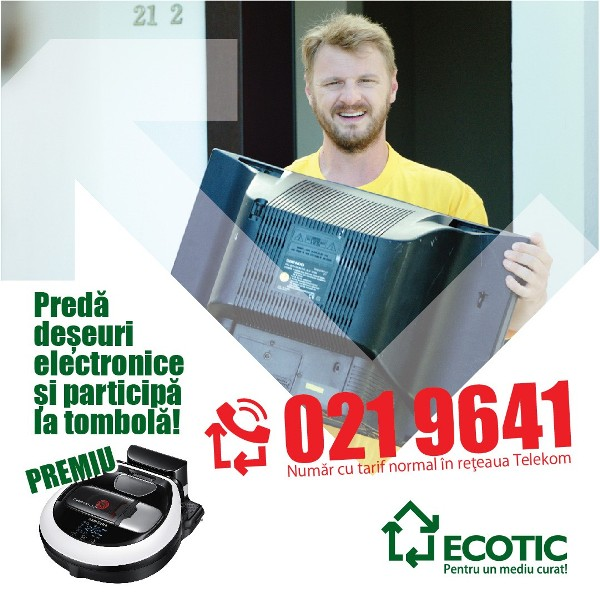 Ai un echipament electric stricat? Solicită preluarea gratuită și poți câștiga un aspirator robot!