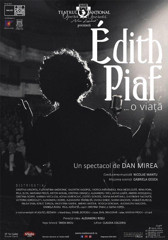"""""""Édith Piaf, o viață"""" -  premieră pe scena Teatrului Național """"Nae Leonard"""""""