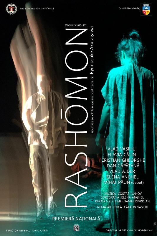 "Premieră națională la Teatrul Dramatic ""Fani Tardini"" - RASHŌMON după Ryūnosuke Akutagawa"