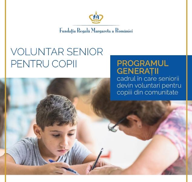 """Fundația Regală Margareta caută seniori care pot deveni mentori în programul """"Generații – Centrul Comunității"""""""