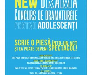 Teatrul Excelsior lansează  New Drama - concurs de dramaturgie pentru adolescenți